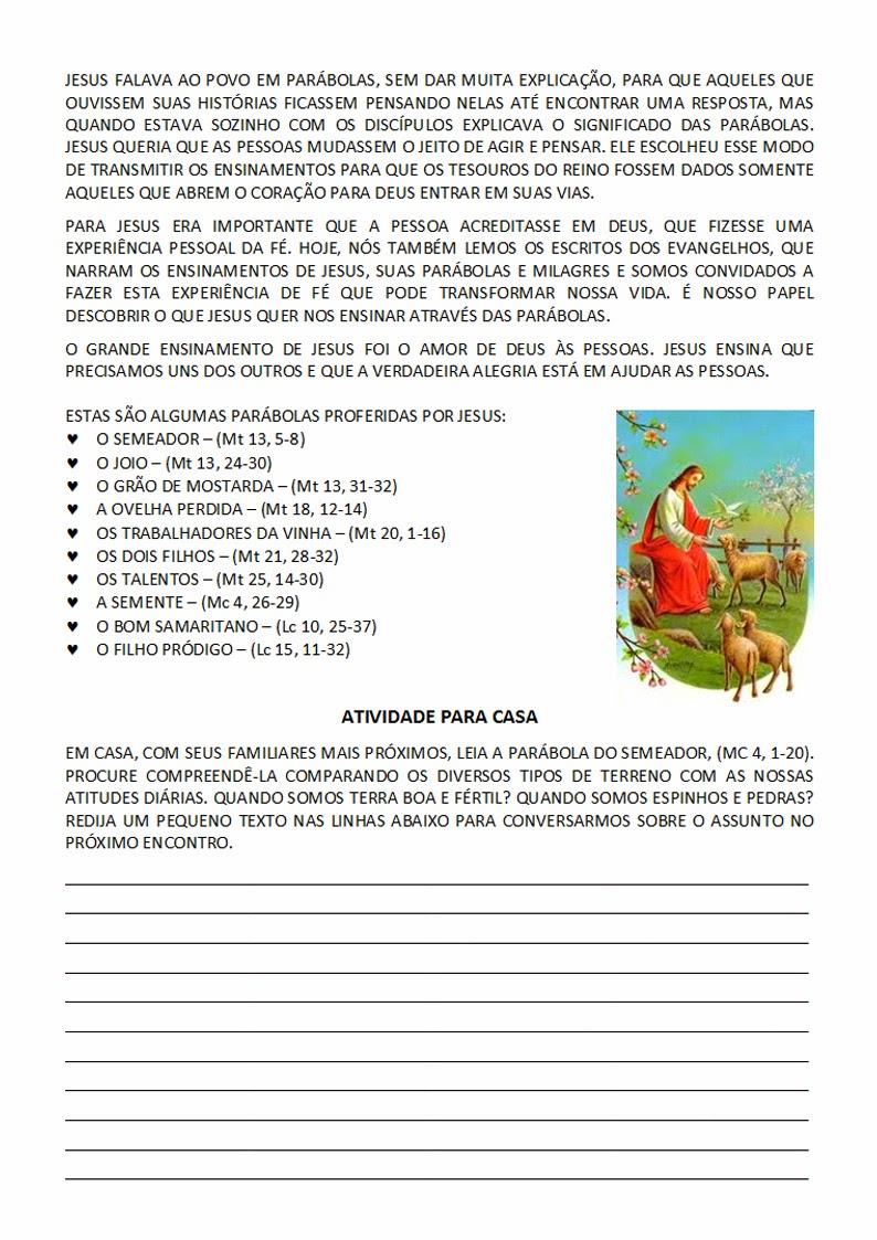 25 30 1 Microsoft W: Catequese TURMINHA DE JESUS: 26º Encontro De Catequese