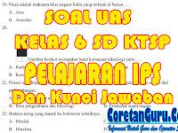 Soal UAS Kelas 6 SD Semester 2 IPS KTSP Dan Kunci Jawaban Plus Kisi-kisi Soal