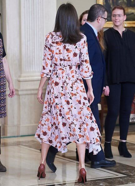 Queen Letizia wore Hugo Boss floral print shirtdress. The TEAF is the acronym for Fetal Alcohol Spectrum Disorder