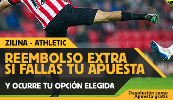 betfair reembolso 25 euros Europa League Zilina vs Athletic 20 agosto