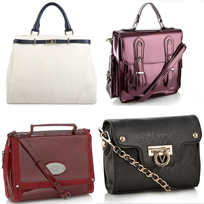 84715ed9a7 Henry Holland Metallic Purple Double Buckle Satchel Bag was £39 now £31.20  3. Jonathan Kelsey/Edition Dark Red Patent Satchel Bag was £39 now £31.20 4.
