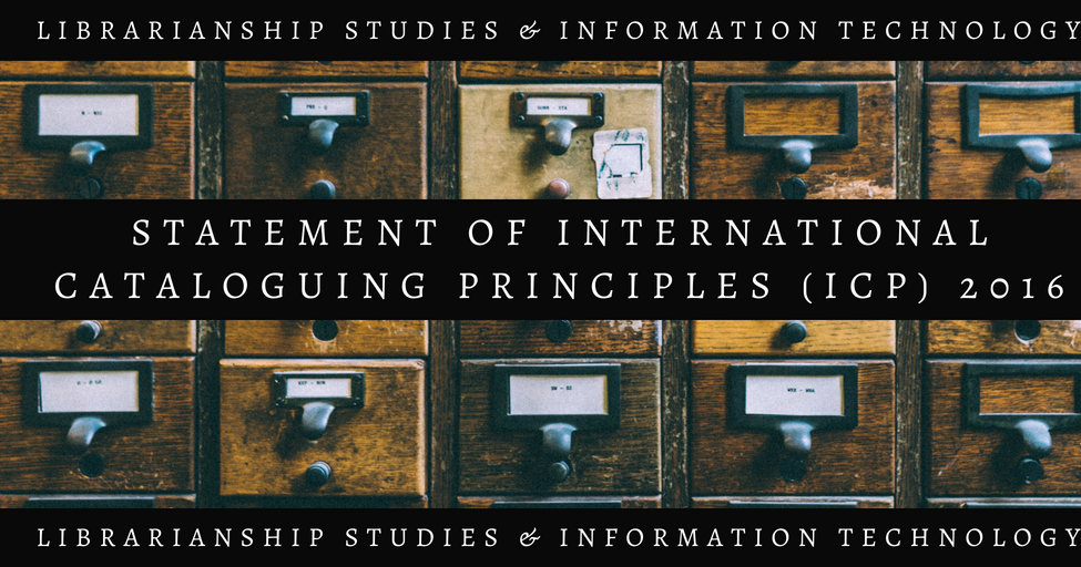 Statement of International Cataloguing Principles