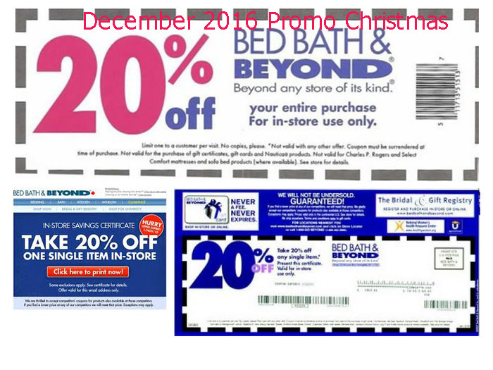Bed Bath Beyond Coupon Code December 2018 Deals Direct Discount