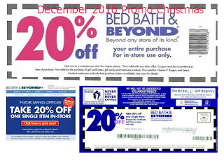 free Bed Bath and Beyond coupons december 2016