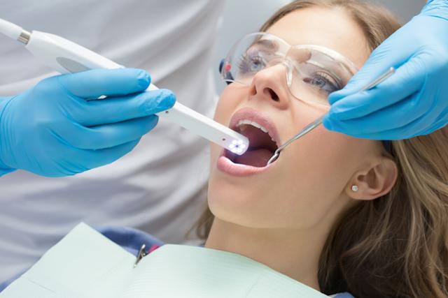 at Jamnagar dental clinic we use intraoral camera for diagnosis of dental problem