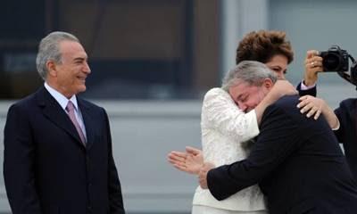 Michel Temer. Dilma Rousseff e Lula na posse de Dilma