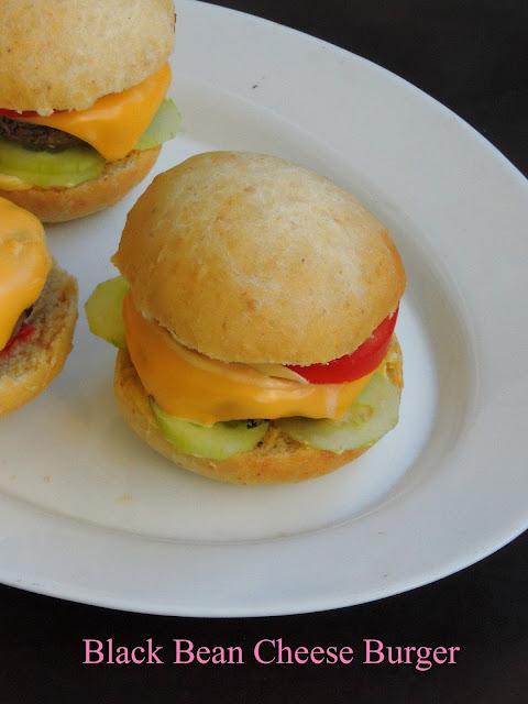 Black bean cheese burger, Vegetarian Cheeseburger
