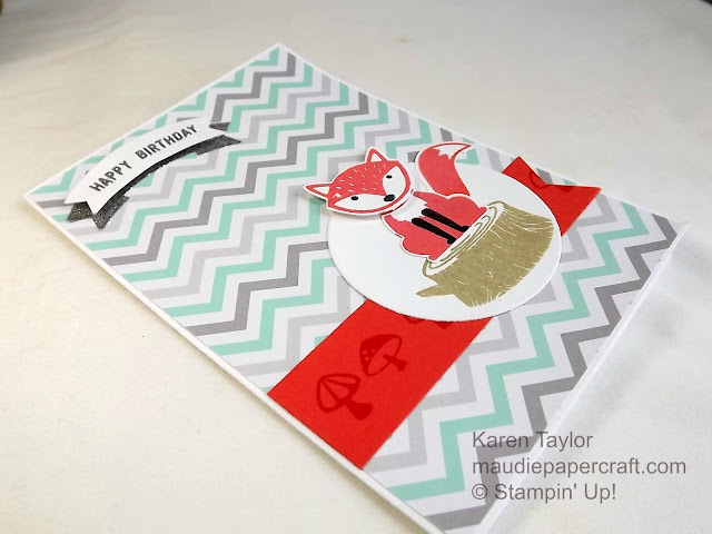 Stampin' Up! Foxy Friends card with Thoughtful Banners