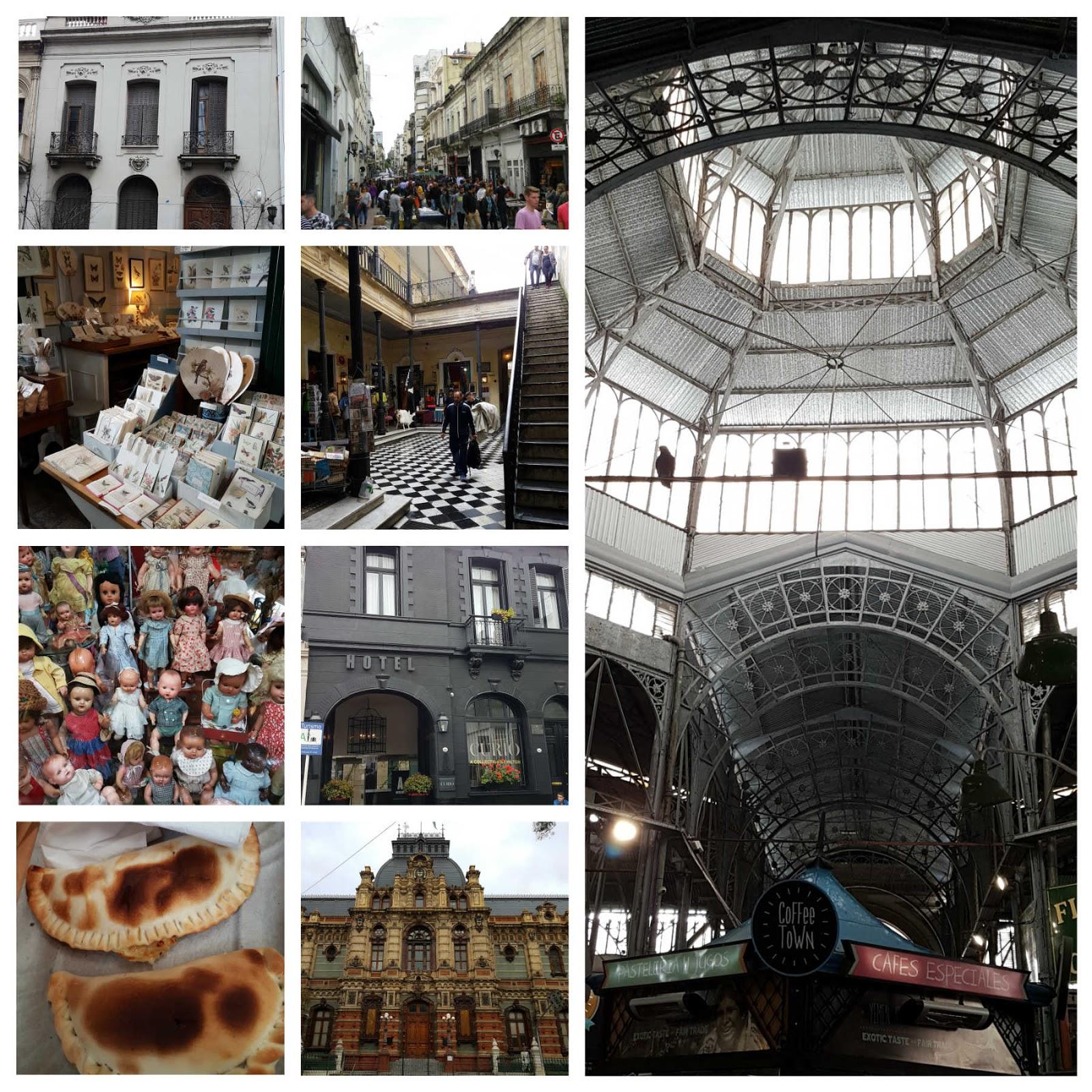 Feira de San Telmo, Mercado de San Telmo e Palácio das Águas Corrientes em Buenos Aires.