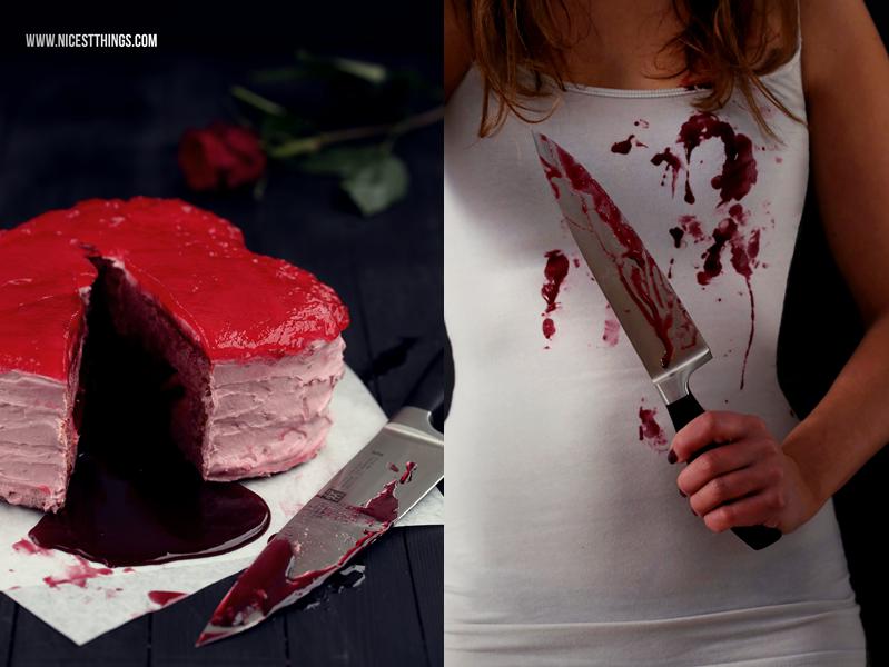 Kuchen blutendes Herz Bleeding Heart Cake