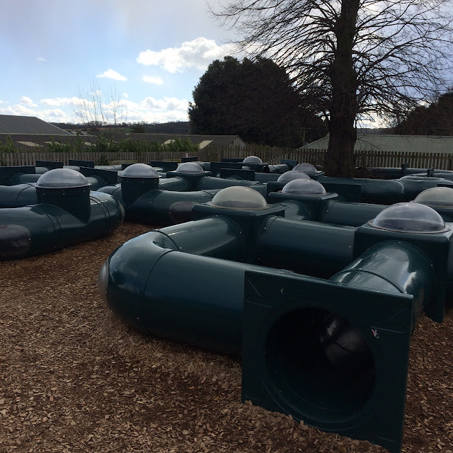 Tube maze at Cannon hall farm