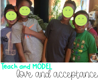 love, acceptance in the classroom