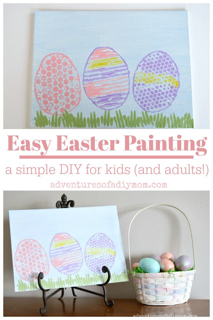 Easy Easter Painting - a simple DIY for kids (and adults!)
