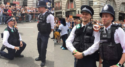 The pair got engaged during Pride in London