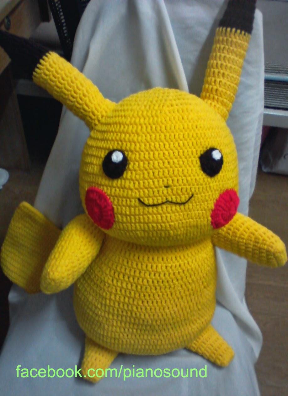 ♥ Amigurumi Pikachu in Umbreon SleepingBag - Delinlea - My little ... | 1264x918