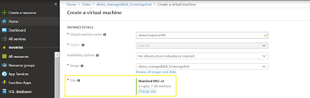 Create Virtual Machine Size