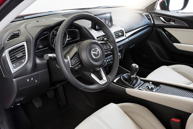Interior view of 2017 Mazda 3 5-Door Grand Touring