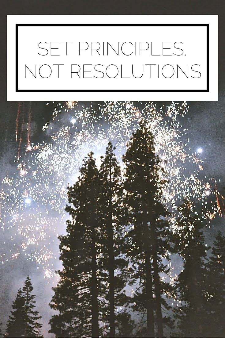 Set Principles, Not Resolutions
