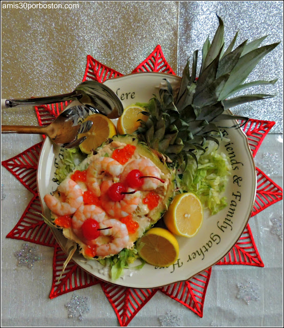 Cocktail de Gambas en Piña