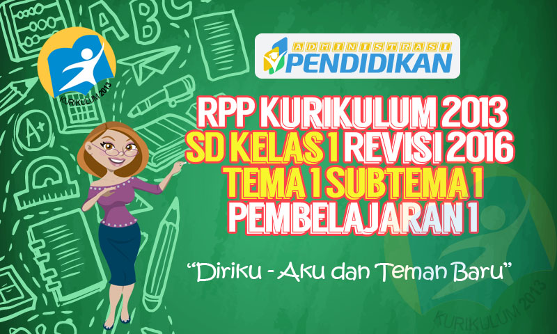 Rpp Kurikulum 2013 Sd Kelas 1 Revisi Tema 1 Subtema 1 Pembelajaran 1 Administrasi Pendidikan
