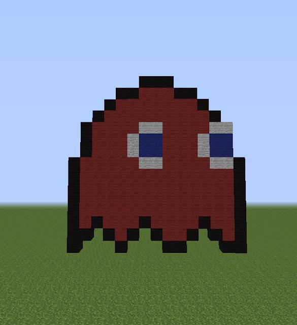 Minecraft Pixel Art Helper: Blinky From Pac-Man  Minecraft Pixel...