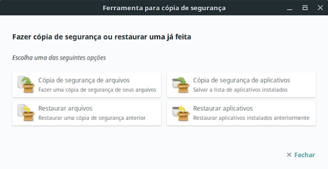 Ferramenta de BackUp do Linux MInt
