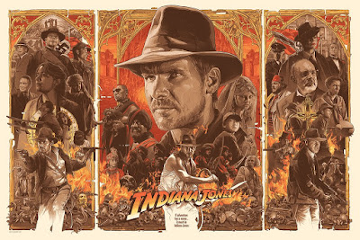 Indiana Jones Trilogy Regular Timed Edition Screen Print by Gabz x Bottleneck Gallery