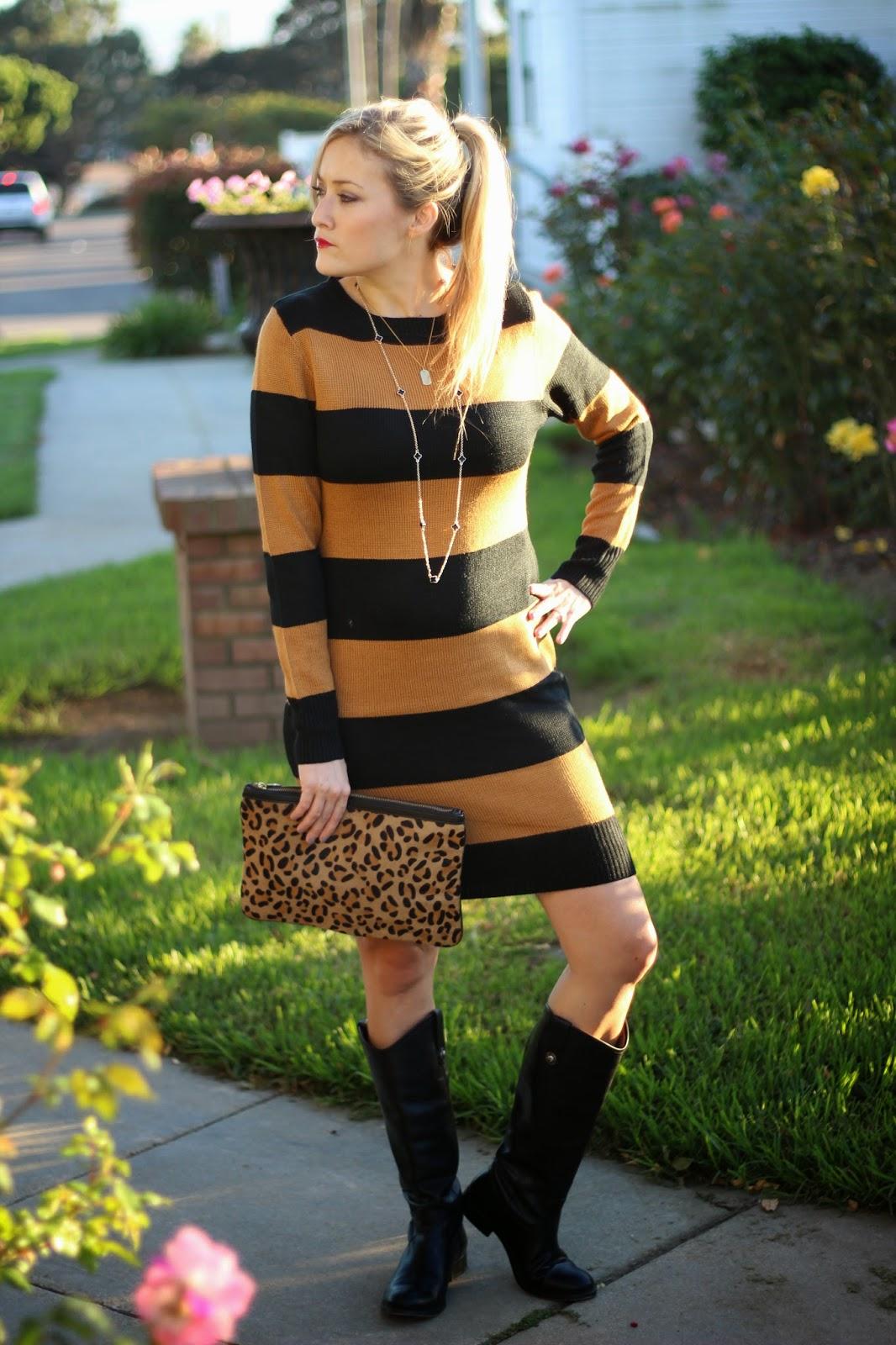 91ba1ab0748d Striped Sweater Dress - She Said He Said