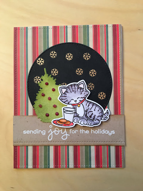 Sending joy for the holidays by Marianne features Newton's Holiday Mischief by Newton's Nook Designs; #newtonsnook
