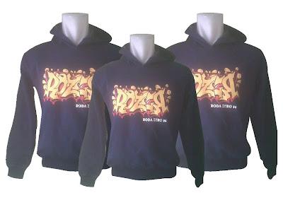 Hoodie (Sweater Kupluk) RozeR Community warna Biru Dongker