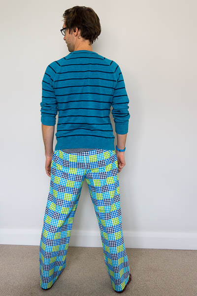 Simplicity 1605 flannel pyjama bottoms