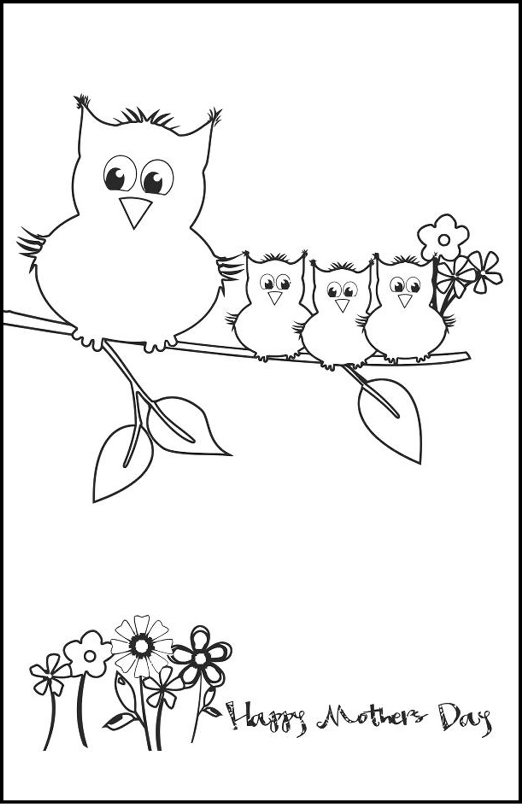Fantail Digital Art Free Printable Colouring Card For