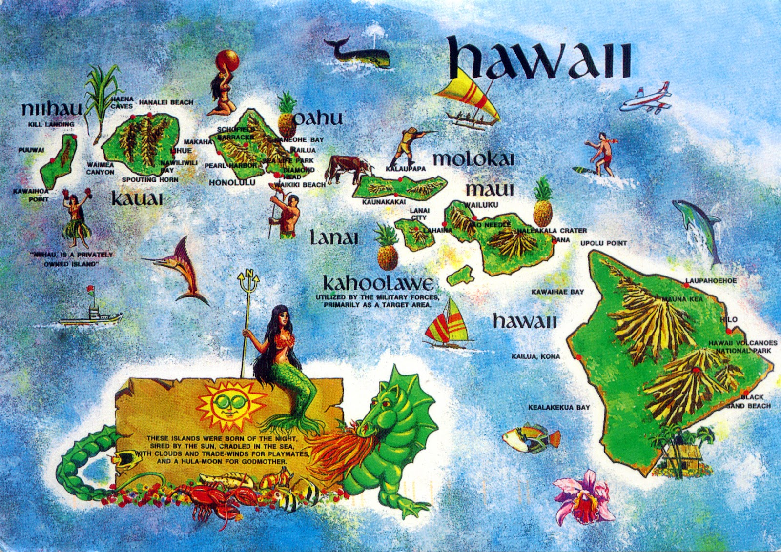 WORLD COME TO MY HOME 0518 2170 UNITED STATES Hawaii Hawaii map