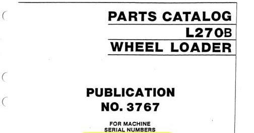 Free Automotive Manuals: Volvo Wheel Loaders L270B Parts