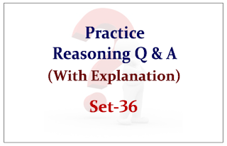 Practice Reasoning Questions (with explanation) for Upcoming IBPS RRB Exams 2015 Set-36