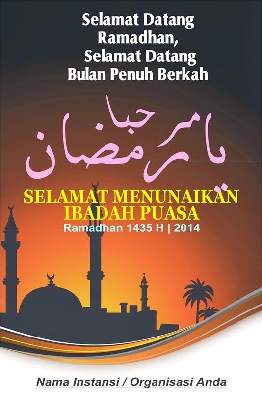 15 Contoh Desain Spanduk Ramadhan Inspiratif 2014 1435 Gratis