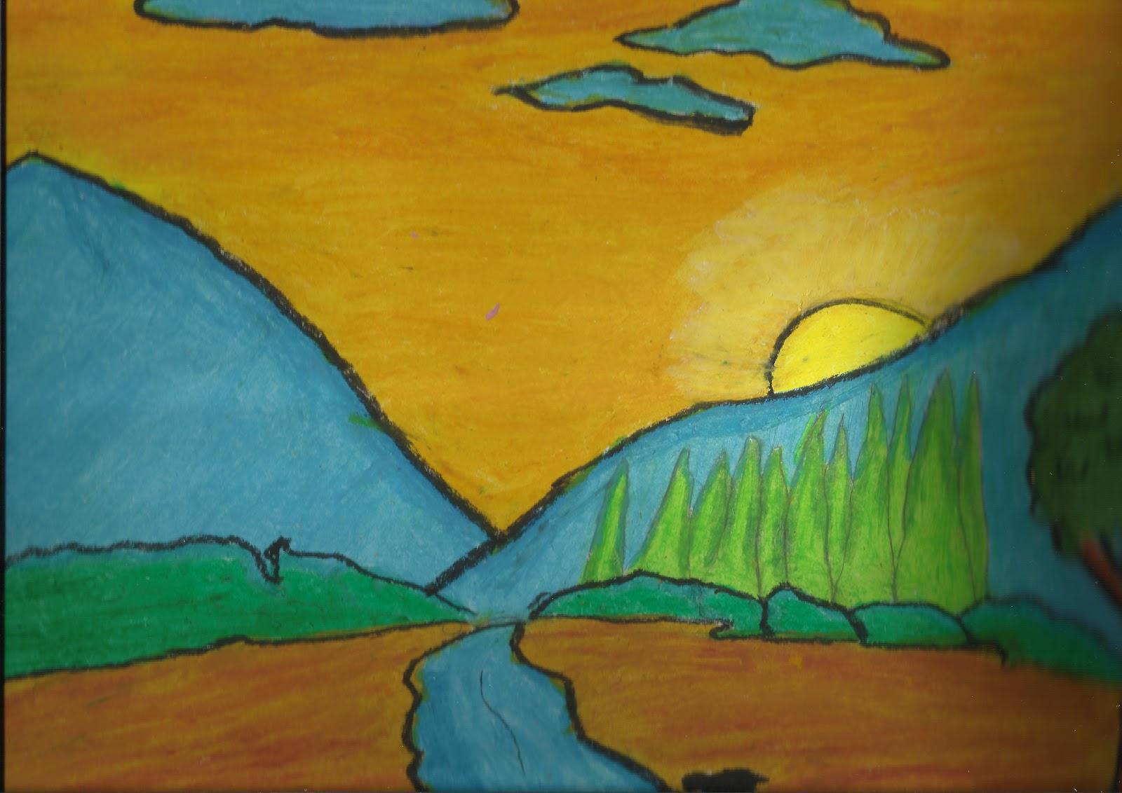 Gagasan Objek Karya Seni Rupa Seni Rupa Tiga Dimensi Mikirbae Vivi Angelina Pemandangan Alam Pegunungan
