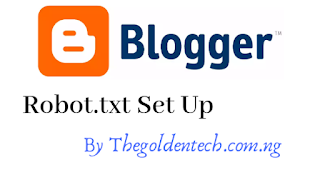 Create custom robots txt blogger by https://thegoldentech.com.ng