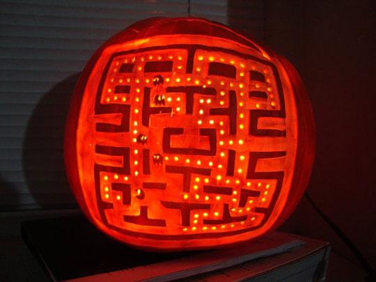 pac man pumpkin
