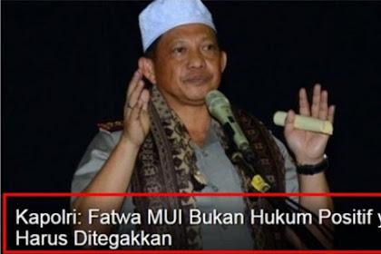 """TANGGAPAN TEGAS Ketua MUI Sumatra Barat Atas Pernyataan Kapolri """"Fatwa MUI Bukan Hukum Positif yang Harus Ditegakkan"""""""