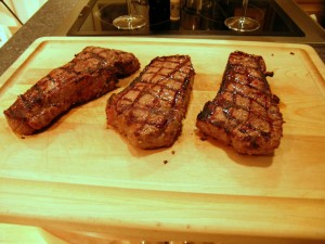 Grilled Striploin Steaks