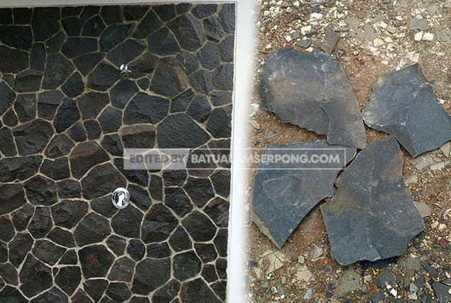 harga batu alam templek garut hitam
