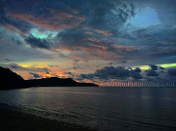 Sunset di Pantai Merdeka