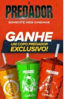 Promoção Griletto Copo Predador Filme 2018 Compre Ganhe Copo Exclusivo