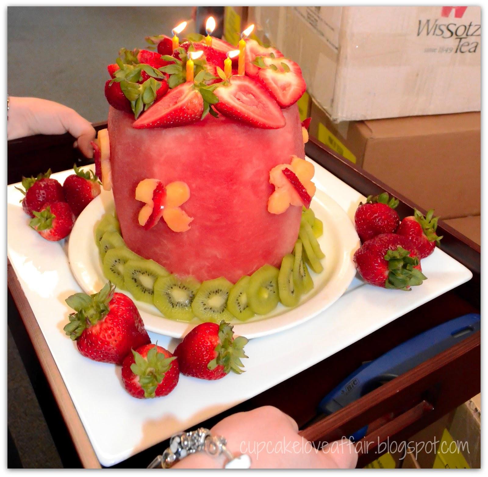 A Cupcake Love Affair: Fruit {Cake} For A Summer Birthday