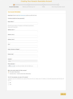 Amazon account information