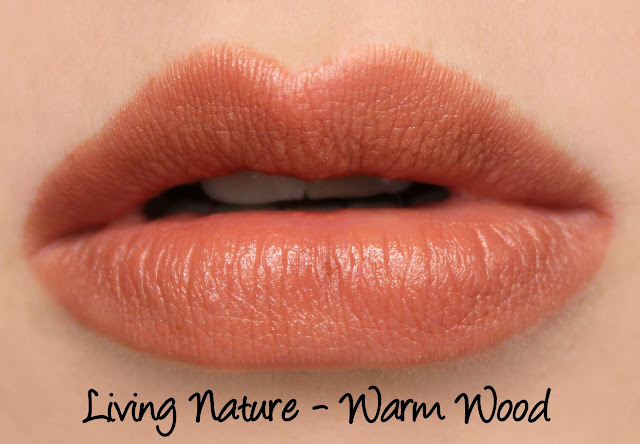 Living Nature Lipstick - Warm Wood Swatches & Review