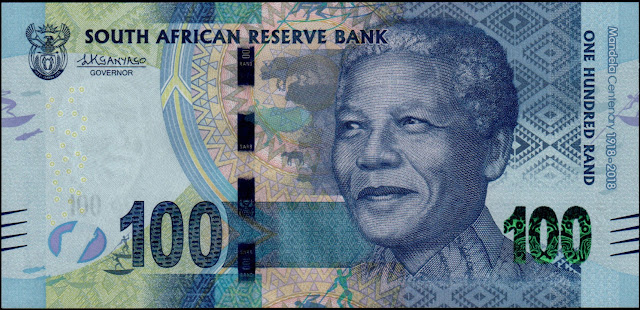 South Africa Currency 100 Rand Commemorative banknote 2018 Nelson Mandela Centenary