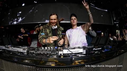 Foto David Guetta dan Justin Bieber
