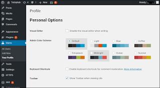 Setup profile information in wordpress website